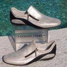 Donald Pliner $225 METALLIC SILVER LEATHER Shoe NIB ATHLETIC INSPIRED FLEX