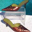 Donald Pliner $245 COUTURE COPPER METALLIC LEATHER Shoe NIB MULE CUT-OUTS