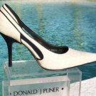 Donald Pliner $280 COUTURE ANTIQUE GATOR LEATHER Shoe NIB CUT-OUT SIDES SLEEK