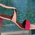 Donald Pliner $265 COUTURE STRAPPY CUT-OUTS SUEDE LEATHER Shoe NIB SLIDE