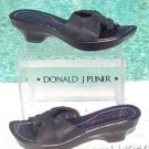 Donald Pliner $225 COUTURE BLACK METALLIC LEATHER Shoe NIB PLATFORM BASE NONSKID