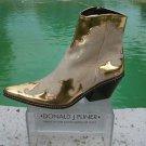 Donald Pliner $625 WESTERN COUTURE METALLIC HAIR CALF LEATHER Boot Shoe NIB