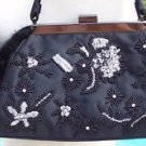 Cache $168 FUR STONES BEADS PURSE EVENT ELABORATE EMBELLISHED HAND BAG