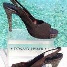 Donald Pliner $275 COUTURE SUEDE GATOR LEATHER Shoe NIB 10 PLATFORM SLINGBACK