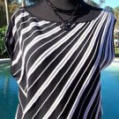 Cache $108  KNIT Top NWT XS/S STRETCH BANDED BOTTOM RUCHED SHOULDER