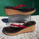 Donald Pliner $285 COUTURE CORK WEDGE PATENT LEATHER THONG SANDAL Shoe NIB 6 11