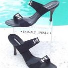 Donald Pliner $235 COUTURE MESH BRA HOOK SANDAL Shoe NIB 11 PATENT LEATHER