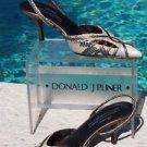 Donald Pliner $265 COUTURE  COBRA LEATHER Shoe NIB 5 POINTY TOE SLING BACK