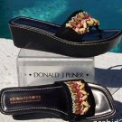 Donald Pliner COUTURE $245 SUEDE LEATHER Shoe NIB WOOD BEAD PLATFORM THONG