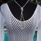 Cache $118 PEEK-A-BOO CROCHET KNIT TULIP SLEEVE Top NWT S/M WEAR ALL YEAR