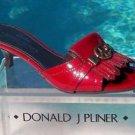 Donald Pliner $275 COUTURE PATENT LEATHER SLIDE Shoe NIB PEACE SIGN 5.5 6 6.5