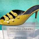 Donald Pliner $295 COUTURE GATOR Leather Shoe NIB 5.5 SANDAL 3 STRAP BUCKLES