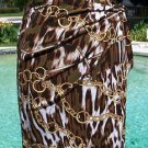 Cache $98 STRETCH FAUX WRAP RUCHED Skirt NWT XS/S 0/2 SELF-BELT Lined CHAIN STAT
