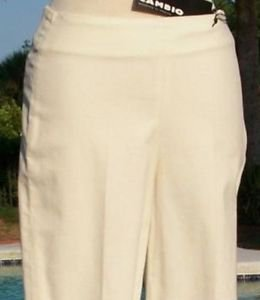 Cambio $195 Modern Classics OFF WHITE CORD Pant NWT 4/6 S STRETCH SIDE ZIPPER