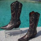 Donald Pliner $750 WESTERN COUTURE METALLIC PIG LEATHER BOOT Shoe NIB 6 PEACE