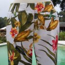 Cache $98 TEXTURED CROP Pant NWT EXOTIC TROPICAL STRETCH WEAR ALL YEAR