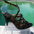 Donald Pliner $295 COUTURE SUEDE LEATHER STRAPY PLATFORM Shoe NIB 6.5  SIGNATURE