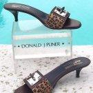 Donald Pliner $325 COUTURE HAIR CALF LEATHER Sandal Shoe NIB METAL BUCKLE 6 8