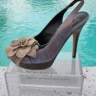 Donald Pliner COUTURE $395 METALLIC LEATHER Shoe NIB PLATFORM PEEP-TOE SIGNATURE