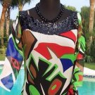 Cache $198  Lot 2 100% SILK SEQUIN Dress Top NWT XS/S/M  BLACK SLIP DRESS EVENT