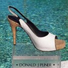 Donald Pliner $265 COUTURE COBRA LEATHER Shoe NIB 10 OPEN-TOE Sandal PLATFORM