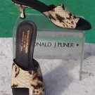 Donald Pliner COUTURE $315 PYTHON PATENT LEATHER Shoe NIB TOE RING SANDAL 5.5