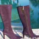 Donald Pliner $495 COUTURE SUEDE LEATHER Boot Shoe NIB FULL SIDE ZIPPER SIGNATUR