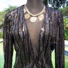 Cache $188 SEQUIN Top JACKET NWT S/M/L/XL METALLIC LINED STRETCH EVENT CLUB