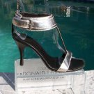Donald Pliner $355 COUTURE METALLIC LEATHER Shoe NIB WIDE ANKLE STRAP 5.5 6.5 9