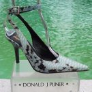Donald Pliner $400 COUTURE PYTHON PATENT LEATHER Shoe Pump NIB ANKLE WRAP 6.5
