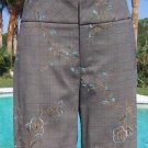 Cache $118 STRETCH WORK Crop DRESS Pant  NWT 0/2/4/6/8 EMBROIDERY DRESS UP DOWN