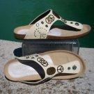 Donald Pliner $255 COUTURE PEACE LEATHER Shoe NIB 10 11 SUEDE FOOTBED GEL SOLE