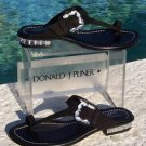 Donald Pliner $295 COUTURE SUEDE LEATHER Shoe Sandal NIB CHUNKY STONES 6.5