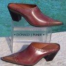 Donald Pliner $300 WESTERN COUTURE BOOT MULE Shoe NIB 6 OIL SKIN CALF LEATHER