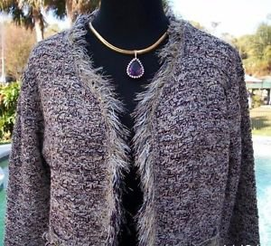 Cache $138 Boucle TWEED Top JACKET Shrug NWT XS/S/M  METALLIC KISSED EYELASH