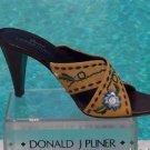 Donald Pliner $265 COUTURE LEATHER Shoe NIB CRISS CROSS SANDAL EMBROIDERY 9.5 10
