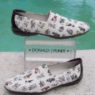 Donald Pliner $210 CREPE ELASTIC LEATHER  LOAFER DRIVING Shoe NIB 11 DJP PRINT