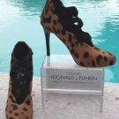Donald Pliner $395 COUTURE EXOTIC HAIR CALF LEATHER Pump Shoe NIB ELASTIC