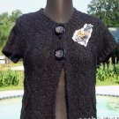 Cache $98 ACRYLIC COTTON MOHAIR BLEND  SWEATER JACKET Top NWT XS/S/M STRETCH