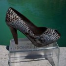 Donald Pliner $400 COUTURE PYTHON LEATHER Shoe Pump NIB 5.5 6 PEEP-TOE PLATFORM