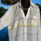 Cache $98 CARGO Top NWT M/L/XL STRETCH TIE AT WAIST SHEER ILLUSION YUMMY