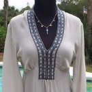 Cache LUXE $158 SILK METALLIC BEAD Top NWT 0/2/4/6/8/12 PEASANT EMPIRE TULIP
