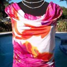 Cache RUCHED YUMMY NECK PEEK-A-BOO BACK Top NWT XS/S STRETCH WEAR OFF-SHOULDER