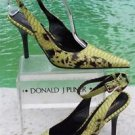 Donald Pliner $400 COUTURE PYTHON PATENT LEATHER Shoe Pump NIB ANKLE WRAP 6 10