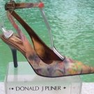 Donald Pliner $400 COUTURE LEATHER Shoe Pump NIB 6.5 EXOTIC HAND PAINTED