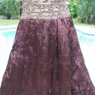 Cache $138 HAND SEWN SEQUINS CRINKLE LINED Skirt NWT Event Day Party