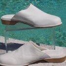 Donald Pliner $$$ WHITE BUCK SKIN LEATHER Loafer Shoe NIB 7.5  FLAT Comfort