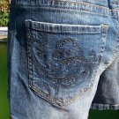 Cache $88 DENIM EMBELLISHED POCKETS STUD SHORT STRETCH Pant NWT 6/8/10/12