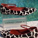 Donald Pliner $295 COUTURE HAIR CALF LEATHER Shoe NIB 6 BALLET FLAT SKIMMER