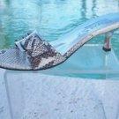 Marvin Aquatalia $225 PYTHON Leather Shoe Sandal NIB 7.5 TEXTURED BUCKLE T-STRAP